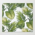 Monstera and palm leaves by catyarte