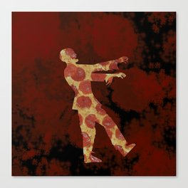 Zombie Need Brain... errr, Pizza Canvas Print