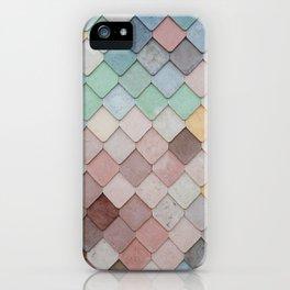 Pastel Rainbow Mermaid Pattern iPhone Case
