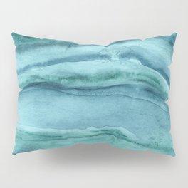 Watercolor Agate - Teal Blue Pillow Sham