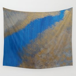 Gold in the Blue Sky Wall Tapestry