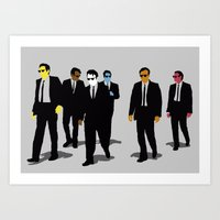 reservoir dogs Art Prints featuring Reservoir Dogs by WhiteeChess