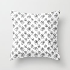 Rose Line Pattern Throw Pillow