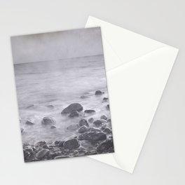 """Black sea rocks"" Stationery Cards"