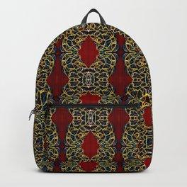 Gorgeous beadwork inspired print Backpack