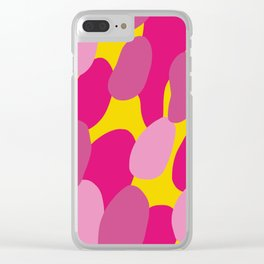 Yellow & Pink Shapes Clear iPhone Case