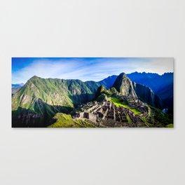 Machu Picchu First Light Canvas Print
