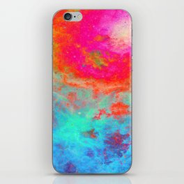 Galaxy : Bright Colorful Nebula iPhone Skin