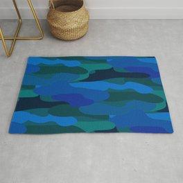 Camo-licious Collection: Blue Hawaiian Camouflage Pattern Rug