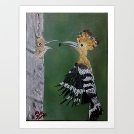 Mother Feeds The Child Art Print