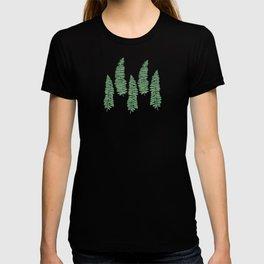 dancing ferns tropical pattern T-shirt