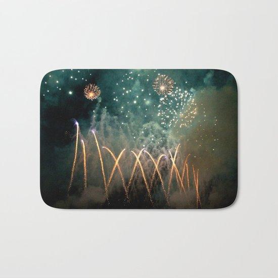 Fireworks Face Bath Mat
