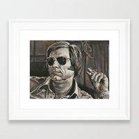 phil jones Framed Art Prints featuring Jones by Buddy Owens Paintings