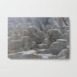 pancake rocks Metal Print