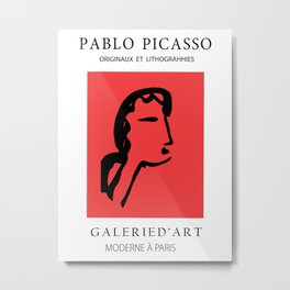 Picasso -  Female face Metal Print