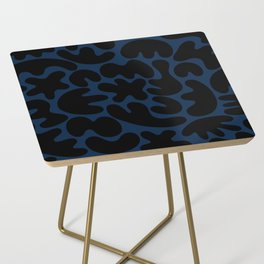 Blob Collage - Navy Side Table