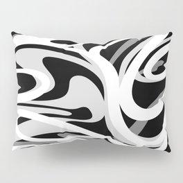 Finger Paint Swirls - Gray, Black and White Pillow Sham