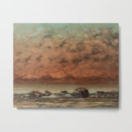 Gustave Courbet - The Black Rocks at Trouville Metal Print