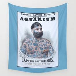 Captain Costentenus, tattoed from head to foot Poster Wall Tapestry