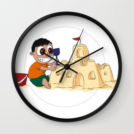Sandpit of Enormousness Wall Clock