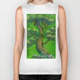Bonsai Tree Green Biker Tank