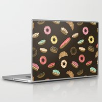 donuts Laptop & iPad Skins featuring Donuts by Julia Badeeva
