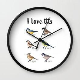 Birdwatching Gift for Birder & Bird Love Wall Clock