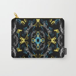 Abstract Silk Drawing Carry-All Pouch