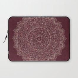 Rose Gold Marble Mandala Burgundy Textured Laptop Sleeve