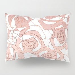 Pour The Rosé - Roses Gold Copper Pillow Sham