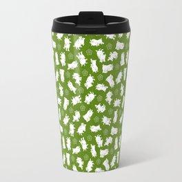 Ditsy Goat Green Travel Mug