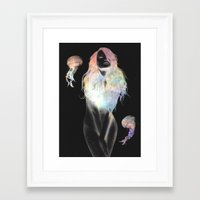 medusa Framed Art Prints featuring Medusa by Daniel Taylor