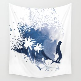 The Longboard Surfer Wall Tapestry