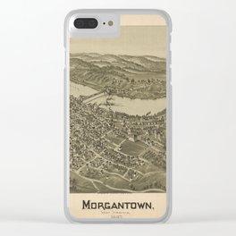 1897 street plan of Morgantown West Virginia Clear iPhone Case