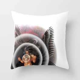 heavenly body - archangel micheal Throw Pillow