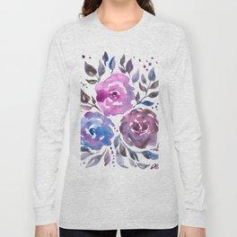 Dreamy Watercolor Flowers Long Sleeve T-shirt