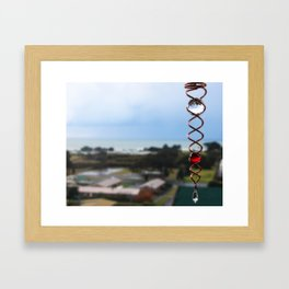 Spiral of White and Red Framed Art Print