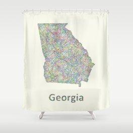 Georgia map Shower Curtain