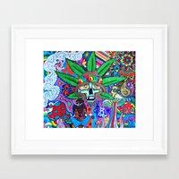 hippie Framed Art Prints featuring Hippie by Allie_gator