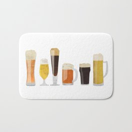 Beer Mugs Bath Mat