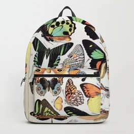 Adolphe Millot - Papillons B - French vintage poster Backpack