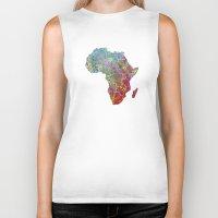 africa Biker Tanks featuring Africa by mthbt