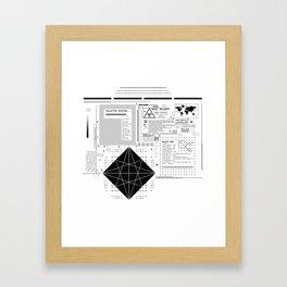 Global System Framed Art Print