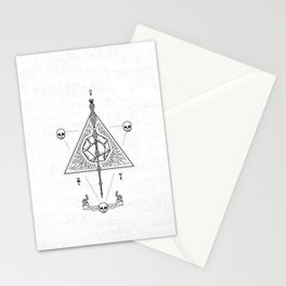 Deathly Hallows (White) Stationery Cards