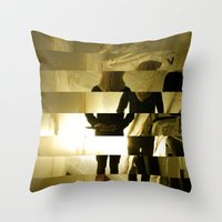 grim fandango Throw Pillows featuring Grim by  St Greyson