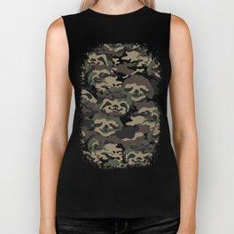 Sloth Camouflage Biker Tank