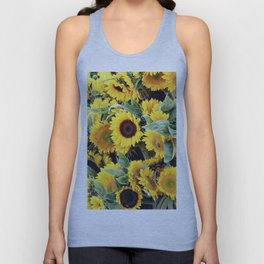 Happy Sunflowers Unisex Tank Top