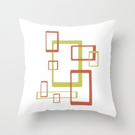 Geometric Mid Century Modern Abstract Pattern Throw Pillow