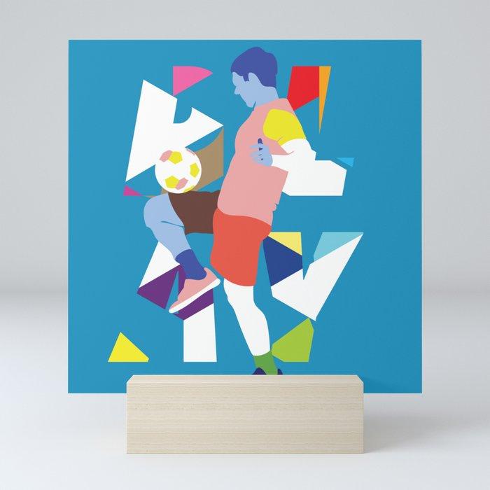 Play (soccer) Mini Art Print