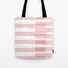 Big Stripes in Pink Tote Bag
